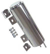 "3""X 9""Inch Stainless Radiator Coolant Overflow Reservoir Tank w/ Twist Cap Univ."