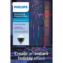 Philips Christmas Shimmering LED Projection Bulb Red Green and Blue Disco NEW image 1