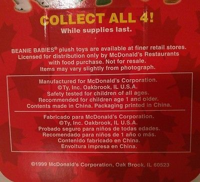 TY TEENIE BEANIE BABIES 1997 RONALD MCDONALD HOUSE CHARITIES ~MAPLE THE BEAR~ image 5