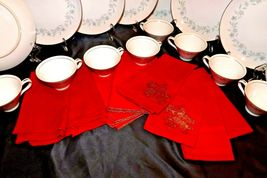 """G"" Plates Japan Fine China Dishes and teacups with Napkins AA20-2344 Vintage image 9"