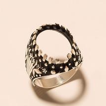Turkish Empire Oval Cabochon Semi Mount Ring 925 Sterling Silver Fine Je... - $21.02