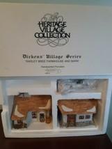 Dept 56 Barley Bree Farmhouse and Barn Dickens Village 5900-5 Heritage C... - $39.55