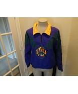 Vtg 90's FILA Sewn Purple Green COLOR BLOCK Nylon 1/4 Zip Jacket Adult L... - $54.44