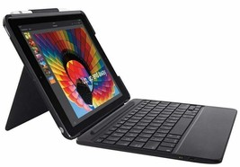 "Logitech iPad Slim Combo Case Bluetooth Wireless Keyboard iPad 9.7"" 5 & 6 Black - $64.99"