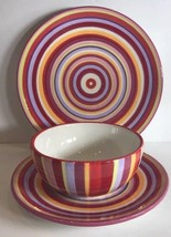 Rainbow 3 Piece Place Setting by Home Target (Plates, Bowl) Service Set ... - $21.78