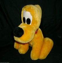 "10"" Vintage Walt Disney World Pluto Stuffed Animal Plush Toy Mickey's Yellow Dog - $14.03"