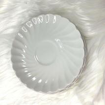 JB Johnson Bros White Saucer 1H3 Lot of 4 Made In England Swirl Rim Iron... - $18.69