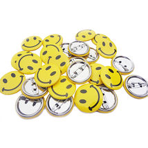 Magik 50 pcs Classic Mini Metal Smiley Smile Face Pinback Button Pins 1 ... - $20.00