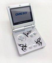 Nintendo Game Boy Advance GBA SP Custom Silver Tribal System AGS 001 MIN... - $107.60