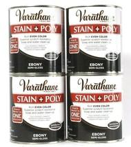 4 Varathane 32 Oz Stain & Poly In 1 Application 214464  Rich Ebony Semi ... - $54.99