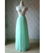 Mint green wedding tulle skirt new 23 2 thumbtall