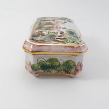 Vintage CAPODIMONTE Cherub Porcelain Trinket Dresser Box image 7