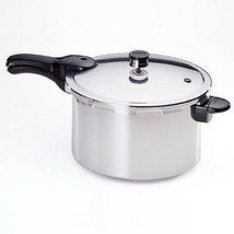 Aluminum Pressure Cooker With Recipe Book, 6-Qt. - £52.41 GBP