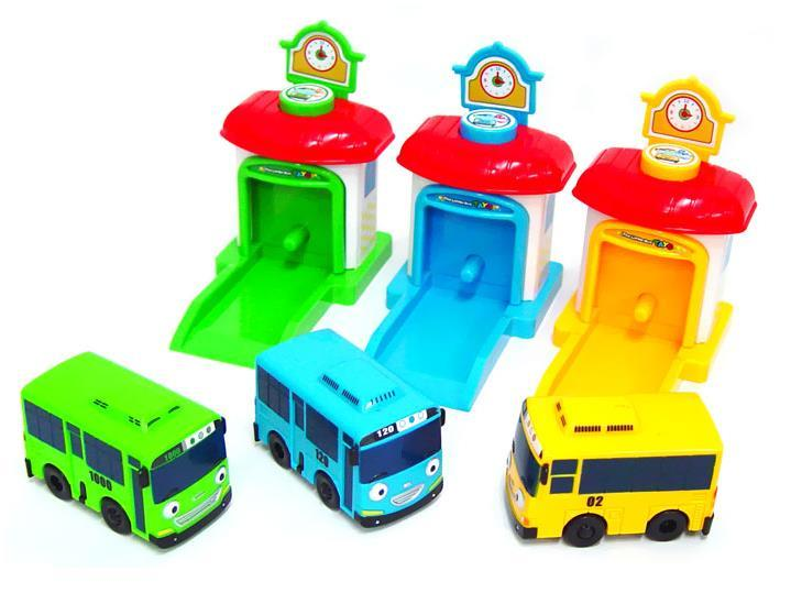TAYO the Little Bus Tayo Shooting Car 3-Set / BusGarage Toys / Gift for Kids / K