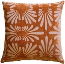 Pillow Decor - Velvet Daisy Orange 20x20 Throw Pillow  - SKU: DC1-0005-0... - $1.352,09 MXN