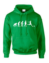 Adult Hoodie Soccer Evolution Funny Love Sport Top - $23.94+