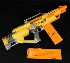 Nerf Blaster N-Force Stampede ECS 2009 Hasbro Yellow 18 Dart Clips Battery Op - $49.99
