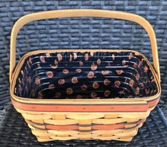 Longaberger Halloween 1994 Boo Basket With Pumpkin Liner And Protector P... - $23.38