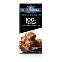 Ghirardelli 100% Cacao Unsweetened Chocolate Premium Baking Bar, 4 oz - $8.99