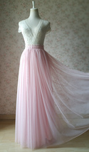 Pink Long Tulle Skirt Bridesmaid Tulle Skirt High Waisted Bridesmaid Outfit image 11