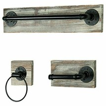 Bathroom Fixture with Towel Bar, Towel Ring & Tissue Holder - $118.88