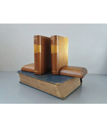 Wooden Bookends Vintage Bookends Woodwork Gift for Book Lover Vintage Bo... - $46.88