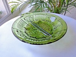 Indiana Glass Killarney Green 2 Part Relish Dish - $14.85