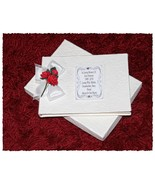 Funeral  Book Condolence Guest Book Bereavement Personalised Red Rose #1 - $35.92