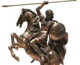 Alexander the Great Greek King Warrior Statue Sculpture Figure Bronze Fi... - $135.33
