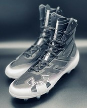 NEW Under Armour Highlight MC Football Cleats Black White 3000177-002 Size 10 - $49.49