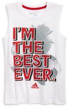 adidas Boy's  'Pride' Sleeveless Tank, white, Size 5 - $10.88