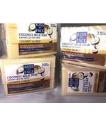 4 Pack - Kiss My Face Bar Soap Pure Coconut Milk 3.5 oz, 3 Ct Vegan No Parabens - $25.75