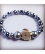 Blue and Silver Pearl Elephant Bracelet. Help Support Wounded Warrior  - $4.55