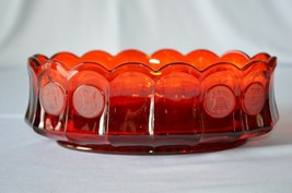 Fostoria Glass Ruby Red Coin Oval Bowl #1372/189   - $14.85