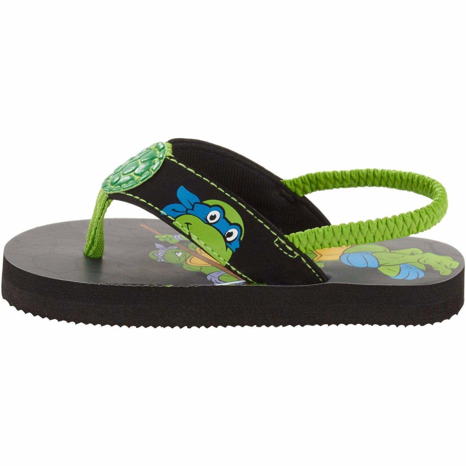 Youth Nickelodeon Teenage Mutant Ninja Turtles Flip Flops Medium width NWT