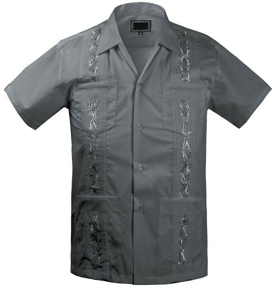 Guayabera Kids Junior Beach Wedding Baptism Button-Up Casual Dress Shirt - 16