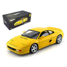 Ferrari F355 Berlinetta Yellow Elite Edition 1/18 Diecast Car Model by H... - $109.42