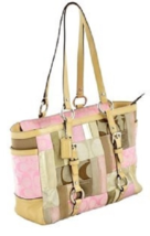Authentic Coach Pink Patchwork Medium Size Purse Bag Tote Shoulderbag - £54.79 GBP