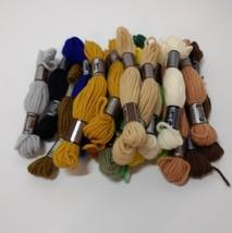20 Skeins Assorted DMC Laine Colbert Lot Tapestry Wool Yarn Needlework 8 Meters - $19.34