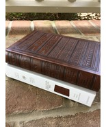 ESV Personal Size Bible TruTone Brown Engraved Design ~ Large 9 point font! - $19.79