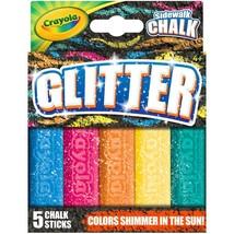 2 pack- Crayola Outdoor Chalk, Glitter Sidewalk Chalk, Summer Toys, 5 Count - $17.95