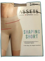 Spanx Assets Shaping Short Size 4 Nude 870B All Day All Night Comfort New - $11.40