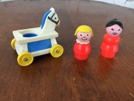 Fisher Price Vintage Little People Mom And Daughter & Horse Ride On Toy - $11.88