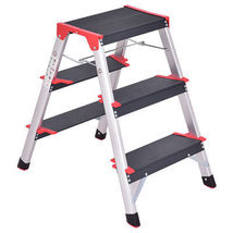 3 Step Aluminum Lightweight Ladder Folding Non-Slip Platform Stool 330Lb... - $74.00