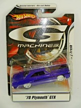 Hot Wheels G Machines Factory Fresh Purple '70 Plymouth GTX 1:50 Diecast... - $16.04