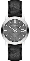 【BURBERRY】The City BU9030 Large Check Black Dial Unisex Watch - 38mm - Warranty - $269.00