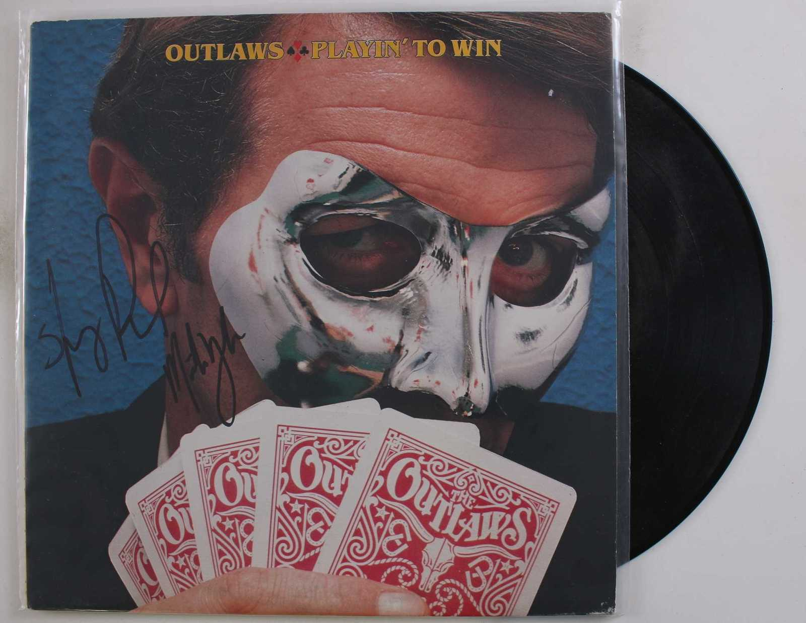 "Primary image for Henry Paul & Monte Yoho Signed Autographed ""The Outlaws"" Record Album"