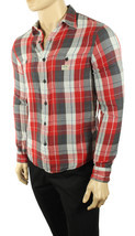 NEW DENIM & SUPPLY RALPH LAUREN DOUBLE LAYER POCKET PLAID RED COTTON SHI... - $39.99