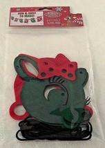 Rudolph 5 Ft Felt Banner Garland Clarice Green Red Christmas Reindeer De... - $9.89