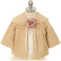 Taupe Hi Quality Soft Faux Fur Half Coat for Girls - $33.00